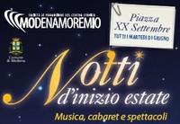 piazza xx settembre,notti di inizio estate,concerti a modena